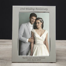 Personalised Engraved Wedding Anniversary Photo Frames Silver Ruby Diamond Gold