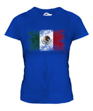 MEXICO DISTRESSED FLAG LADIES T-SHIRT TOP MEXICO MEXICAN MEXIHCO SHIRT FOOTBALL