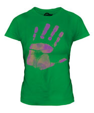 HAND PRINT PRINTED LADIES T-SHIRT FASHION TOP HIPSTER SWAG TRENDY SHORT SLEEVE