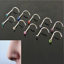 NEW 20PCS Body Jewelry Bar Mixed Style Nose Studs Rings Piercing Wholesale