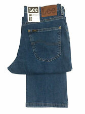 Lee Brooklyn gerades Bein Jeans Stretch - steinwäsche Stretch blau denim