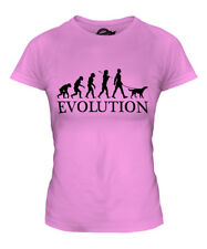 GORDON SETTER EVOLUTION OF MAN LADIES T-SHIRT TEE TOP DOG LOVER GIFT WALKER