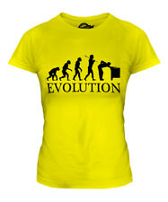 SNOOKER PLAYER EVOLUTION OF MAN LADIES T-SHIRT TEE TOP GIFT CUE BALLS