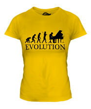 GRAND PIANO EVOLUTION OF MAN LADIES T-SHIRT TEE TOP GIFT MUSICIAN