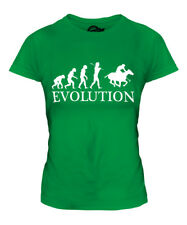 POLO EVOLUTION OF MAN LADIES T-SHIRT TEE TOP GIFT HORSE RIDING RIDER
