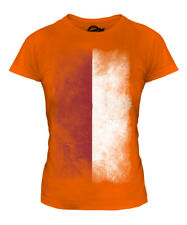 INDONESIA FADED FLAG LADIES T-SHIRT TOP INDONESIAN SHIRT FOOTBALL JERSEY GIFT