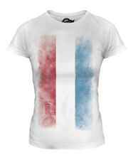 LUXEMBOURG FADED FLAG LADIES T-SHIRT TEE TOP LETZEBUERG LUXEMBOURGISH LUXEMBURG