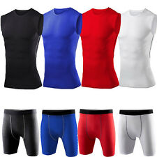 Men's Compression Base Layer Tights Top T-Shirt Fitness Shorts Pants Sports Wear