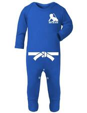 "Baby Romper ""Baby Jiu Jitsu with White Belt"" Jiu Jitsu Baby - Baby Sleep Suit"