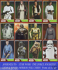 Choose Your JOURNEY TO STAR WARS THE FORCE AWAKENS Topps 2016 MIRROR FOIL Cards