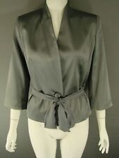 BNWT ALEXON MID GREY/SILVER SATIN JACKET + FREE BROOCH SIZES 10/16/18 - RRP £135