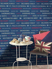 Red, White & Blue, British Bus Tour Wallpaper by Holden Decor  CLEARANCE/BARGAIN