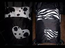 waterproof animal print velboa heart stay put buggy/pram blanket/footmuff