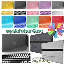 Glossy Crystal Hard Case+Felt Sleeve Bag+UK USA Keyboard Cover For Apple Macbook