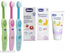 Chicco Toothpaste Strawberry, Banana and Toothbrush Extra Soft 6m+ & 12m+