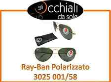 Ray Ban Polarizzato 3025 001/58, Aviator Large Metal, occhiali da sole Ray Ban