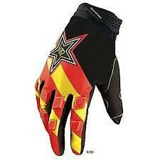 FOX RACING DIRTPAW ROCKSTAR GUANTI MOTOCROSS ROSSO ADULTO PICCOLO MTB BMX ENDURO