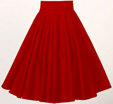 rockabilly pin-up 1950s uk vintage style circle skirt red full dance party wear