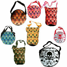 d'Rockabilly Punk Rock Baby CHERRY SKULL FLOWER GAMBLING Shopper Bag Taschen WoW
