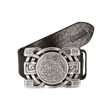 Pikeur - leather belt with Decorative Design buckle In Brown