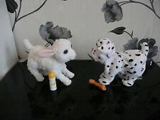 FURREAL FRIENDS NEWBORNS DALMATIAN PUPPY DOG WHITE LAMB INTERACTIVE PET TOY