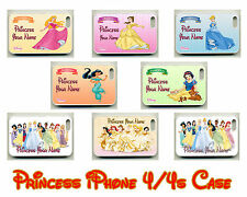 For Apple Personalised Disney Princess Girl/Womens Name Novelty iPhone 4/4s Case
