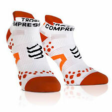 calze sportive compressport pro racing socks running corsa calzini bianco - ross