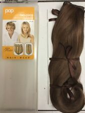 "Pop Two Piece Synthetic Hair Extension 16"" Ginger Brown /light Red Brown"