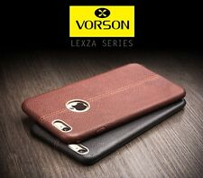 *Vorson ® *DOUBLE STITCH LEATHER SHELL* Back Cover Case For *Apple iPhone 6/6S*