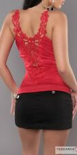 Top femme sexy fashion AUDE couleur rouge