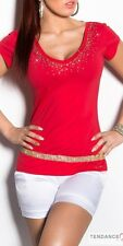 Top femme fashion EMILIA couleur rouge