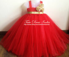 RED TUTU DRESS REAL PICTURE FOR GIRL INFANTS - BIRTHDAY, PARTY, FREE BAND