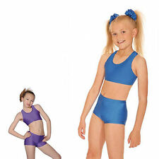 ROCH VALLEY LCROP CROP TOP DANCE BALLET JAZZ DISCO NYLON LYCRA GYMNASTIC