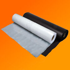 CLEAR & BLACK 500G POLYTHENE PLASTIC SHEETING 2M & 4M WIDTHS VARIOUS LENGTHS