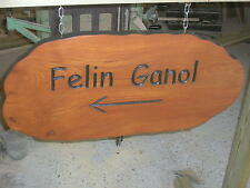 Wooden House name signs / plaques hand carved