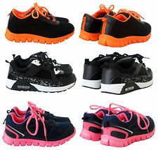 BOYS KIDS RUNNING SPORTS PUMPS GIRLS SKATE LACE UP CHILDREN SMART TRAINERS SHOES