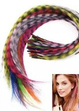 Grizzly Synthetic Pretty Feather Hair Extensions With 2 Micro Beads