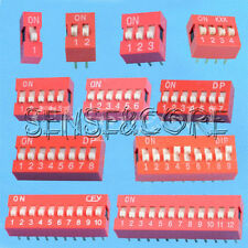 10Stk 2.54mm Red Pitch Slide Type DIP Switch 1-Bit 2-Bit 3-Bit 4-Bit 5-Bit 6-Bit