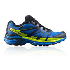 Salomon Wings Pro 2 Mens Green Blue Cushioned Running Sports Shoes Trainers