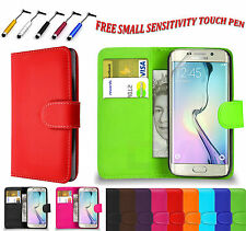 Magnetic PU Leather Side Book Flip Wallet Case Cover For Samsung Galaxy S6 Edge