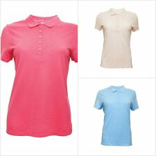 Ex M&S Marks and Spencer Ladies Pure Cotton Short Sleeve Polo Shirts T-Shirt