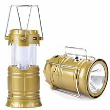 6+1 LED Solar Rechargeable Lantern With Flashlight & Inbuilt USB Mobile Charger