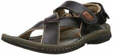 LEE COOPER BRAND MENS ORIGINAL BLACK CASUAL LEATHER SANDAL LC8767