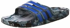 Adidas Brand Mens Blue White Casual Duramo Slide Slipper /Flip Flops
