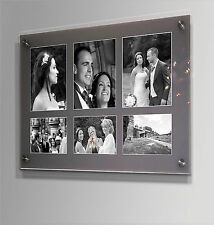 """Gloss cheshire acrylic 20x24"""" multi picture photo frame for 3x 6x4 & 3x 8x6"""""""