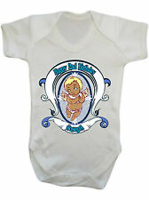 Personalised Name and Number Blessing Guardian Angel Baby Bodysuit Birthday Gift