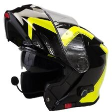 MOTO CASQUE VIPER RS-V171 SHADOW BLUETOOTH BLINC MODULAIRE TOURNEE Vespa Flip Up