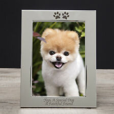 Personalised Engraved Paw Print Photo Frame For Pets Gifts Dog Puppy Cat 5x7 6x4