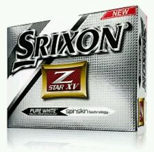 SRIXON Z STAR XV GOLF BALLS. PURE WHITE. DOZEN.  SPINSKIN **BRAND NEW**