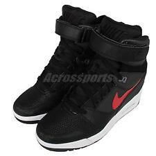 Wmns Nike Air Revolution Sky Hi Black Red Womens Wedge Sneakers Shoes 599410-020
